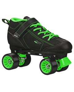 GTX 500 Adult Black and Green Rink Skates