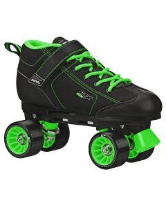 GTX 500 Adult Black and Green Rink Skates