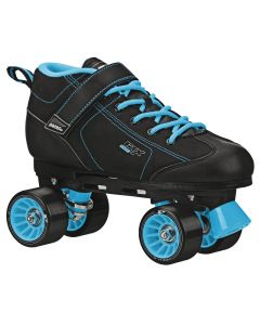 GTX 500 Adult Black and Teal Rink Skates