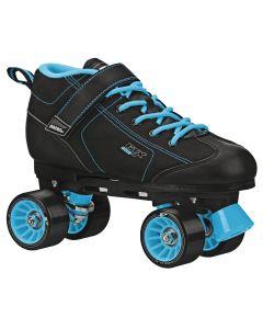 GTX 500 Adult Black and Teal Rink Skates