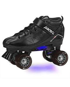 Revive Lighted Black Rink Skates