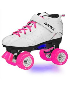 Revive Lighted White Rink Skates
