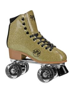 Rollr Grl Astra - Colorful Freestyle Roller Skates - Gold/Black