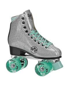 Rollr Grl Astra - Colorful Freestyle Roller Skates - Silver/Black