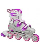 V-Tech 500 Women's Inline Skates - Adjustable from size 7 to 10 (Grey/Purple)